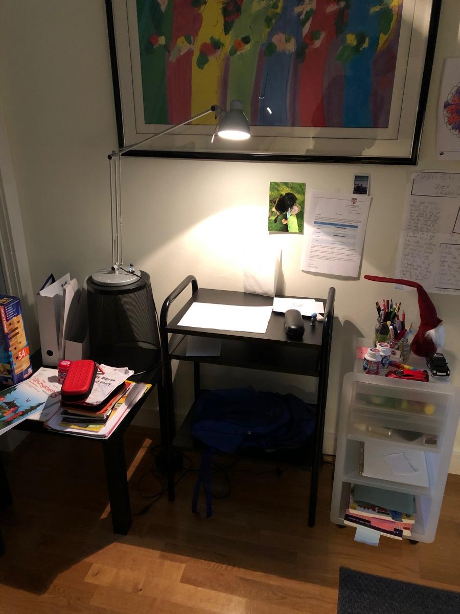 Dedicated homework desk